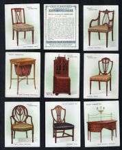 Tobacco cigarette cards Old Furniture, Antiques Cabinet ,Chairs, 1923